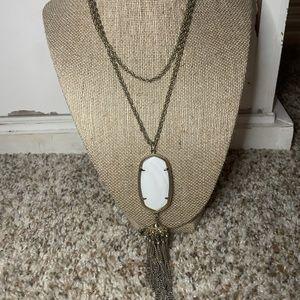 Kendra Scott Rayne Necklace White Stone